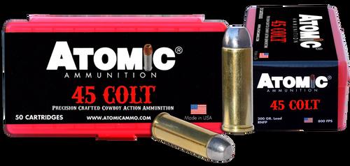 Atomic Pistol 45 Colt 200gr, Leaded Nose Flat Point, 50rd Box