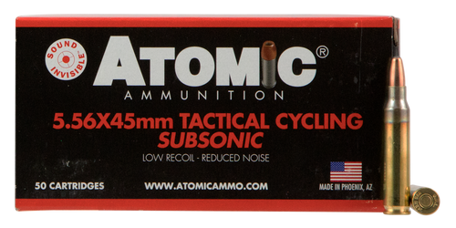 Atomic Rifle Subsonic 223 Remington 112gr, Soft Pointrd Nose, 50rd Box