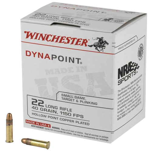 Winchester Dynapoint 22 LR 40gr, Copper Plated Hollow Point, 500rd Can