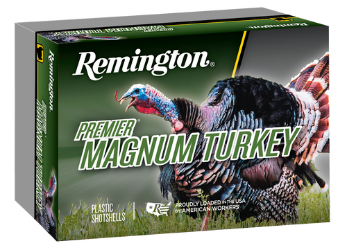 "Remington Premier Magnum Copper-Plated Buffered Turkey 10 Ga, 3.5"", 2-1/4oz, 4 Shot, 5rd Box"