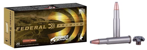 Federal Premium, Hammer Down, 44 Magnum, 270gr, Bonded Soft Point, 20rd Box. Designed for Lever Action Rifles
