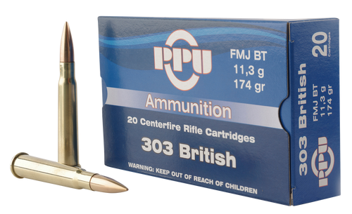 PPU Standard Rifle 303 British 174gr, Full Metal Jacket, 20rd Box