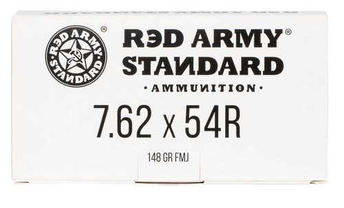 Century Arms Red Army Standard White, 7.62X54R, 148Gr, Full Metal Jacket, 20rd Box