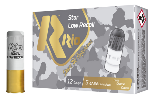"Rio Royal Star 12 Ga, 2.75"", Slug, 1 1/8oz, Star Shot, 5rd Box"
