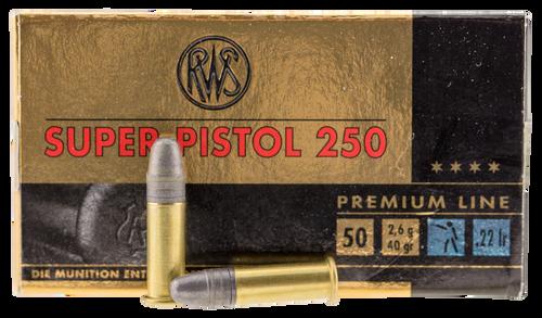 Walther Super Pistol 250 22 LR 40gr, Leaded Nose, 50rd Box