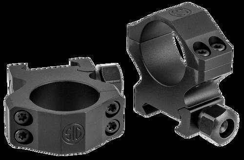 """Sig Electro-Optics Alpha1 Tactical 1"""" Ring Set, Medium Aluminum, Black Matte"""