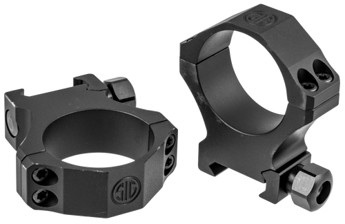 Sig Electro-Optics Alpha1 Tactical 34mm Ring Set, Extra High Aluminum, Black Matte