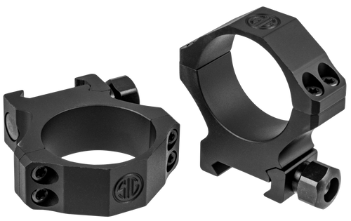 Sig Electro-Optics Alpha1 Tactical 34mm Ring Set, High Aluminum, Black Matte