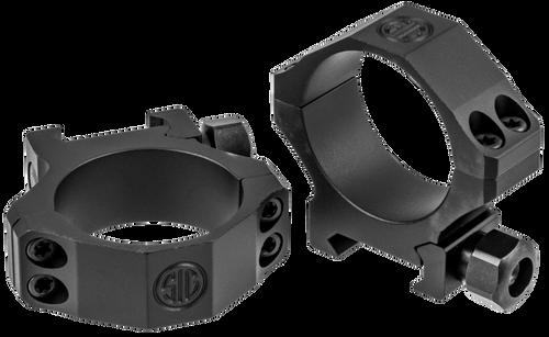 Sig Electro-Optics Alpha1 Tactical 34mm Ring Set, Medium Aluminum, Black Matte