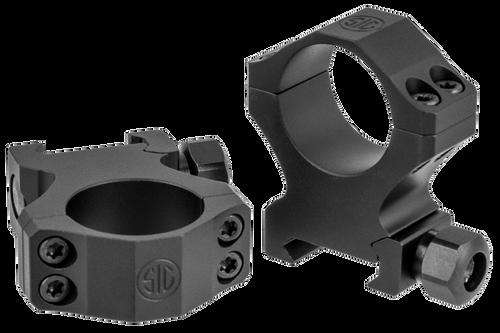 Sig Electro-Optics Alpha1 Tactical 30mm Ring Set, Extra High Aluminum, Black Matte