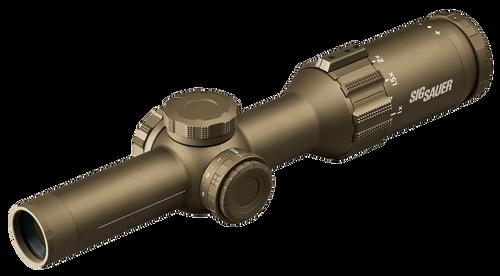 Sig Tango6T 1-6x 24mm Obj 106.70-17.70 ft @ 100 yds FOV 30mm Tube Flat Dark Earth Illuminated Hellfire 3-Gun (SFP)