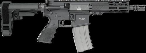 """Rock River Arms LAR-15 A4 Pistol 223/5.56 NATO 7"""" Black Hogue Rubber SBA3 Tactical Arm Brace"""