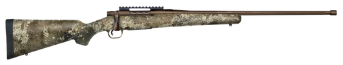 "Mossberg Patriot, Predator, Bolt Action, 6.5 PRC, 24"" Fluted Threaded Barrel, Brown Finish, Syntheic Strata Camo Stock, Adj. Trigger, Picatinny, Oversized Handle, Box Magazine, 5rd"