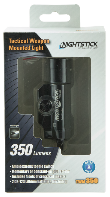 Bayco Weapon Mounted Tactical Cree Led 350 Lumens CR123 (2) Battery Black 6061-T6 Aluminum/Anodized