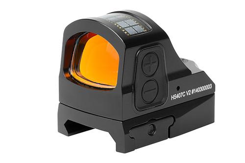 Holosun 407CO Red Dot, 8 MOA Circle, Black, Multicoated Lens, V2 System, Shake Awake, Solar Failsafe, Picatinny