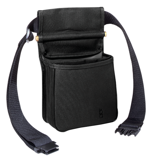 "Boyt Harness Divided Shell Pouch with 2"" Wide Belt Leather Black"