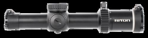 Riton Optics, X5 TACTIX, Rifle Scope, 1-6X24mm, 30mm, TF-1 Illuminated Reticle, 1st Focal Plane, Black Color