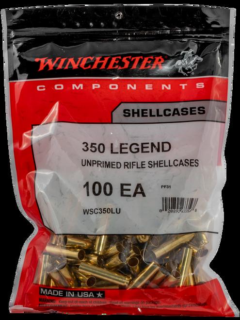 Winchester Unprimed Case 350 Legend Brass, 100 Per Bag