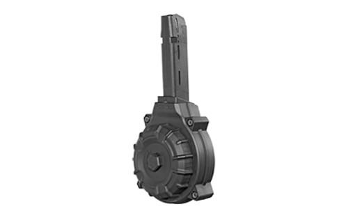 ProMag Glock G22/33 Drum Mag 40 S&W, Black, Polymer, 50rd