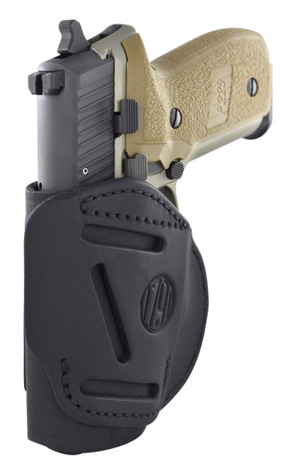 1791 4 Way Belt Holster, Left Hand, Black, Leather, Glock 22-23-26-27-28-29-30-33-39, Sig P228-229, Spring XDS-XDE-XD 9-40 Cal, Taurus G2-G2c-709 Slim
