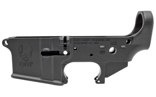 Grey Ghost Cornerstone Forged Lower AR Platform, Multi-Caliber, Black, Hardcoat Anodized
