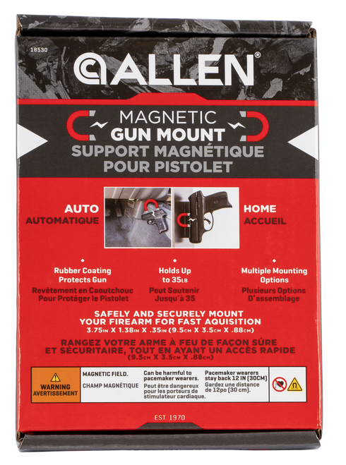 Allen Magnetic Handgun Mount, 35lb Capacity