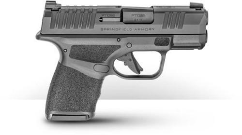 "Springfield Hellcat 9mm, 3"" Barrel, Fiber Optic Sight, Tactiical Rear Sight, Black, 11rd/13rd Mag"