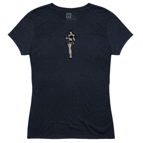 Magpul Tri-Blend Hula Girl Lady Shirt Medium Navy