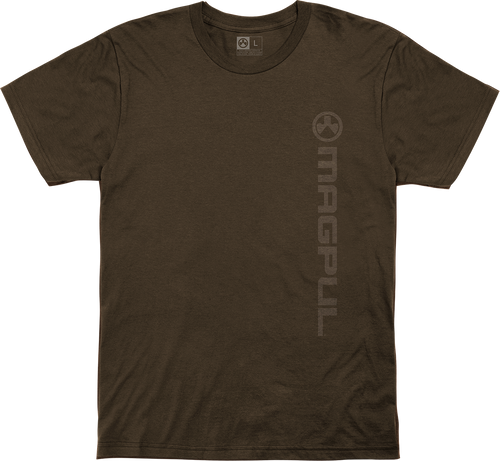 Magpul Fine Cotton Vert Logo Shirt Large Brown