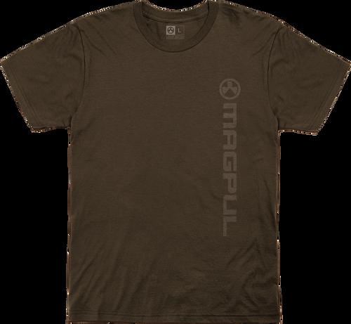 Magpul Fine Cotton Vert Logo Shirt Medium Brown