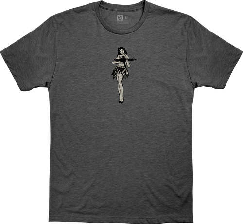 Magpul Hula Girl, T-Shirt, XXLarge, Charcoal Heather