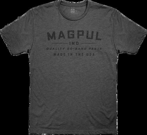 Magpul Go Bang Parts, T-Shirt, Large, Charcoal Heather