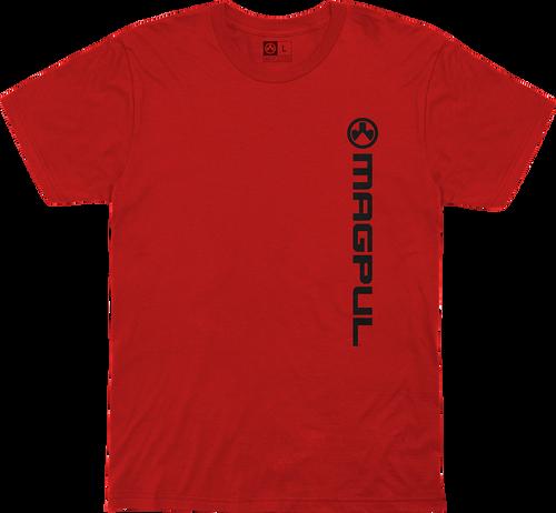Magpul Fine Cotton Vert Logo Shirt Small Red