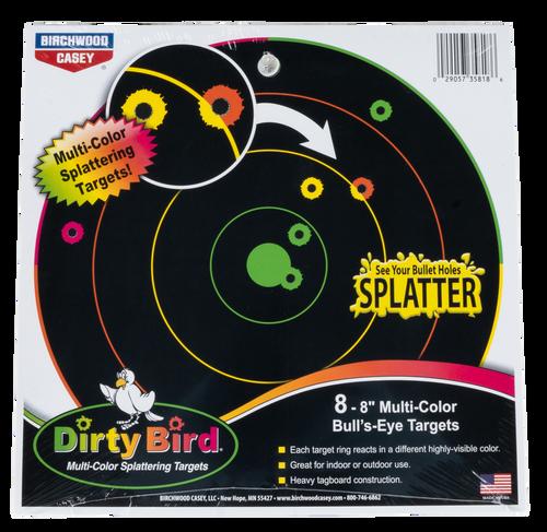 "Birchwood Casey Dirty Bird Bull's-Eye Tagboard 8"" Multi Color, 8 Pack"