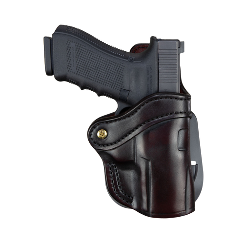 1791 Gunleather PDH 2.4S Signature Brown Leather Outside Waistband Springfield XD-M Compact/Walther PPQ