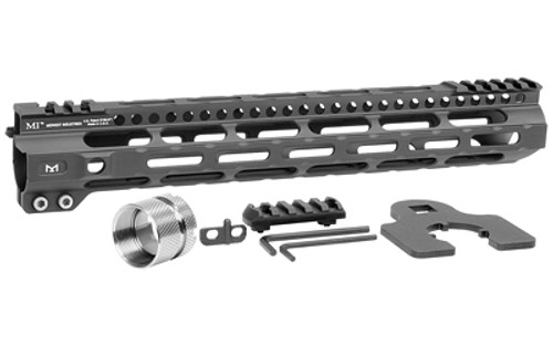 "Midwest Ultra Lightweight M-Lok Handguard AR Rifles, 12.625"" Free Float Handguard, Wrench And Titanium Hardwareluded, 5-Slot Polymer M-Lok Railluded, Black"