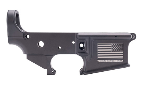 """Anderson AR-15 Stripped Lower Receiver  ''These Colors Never Run"""" Multi CalMarked"""