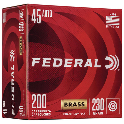 Federal Champion Training 45 ACP 230gr, FMJ, 200rd Box