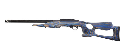 "Thompson Center T/CR22 22LR, 20"" Threaded Carbon Fiber Barrel, Blue Altamont Thumbhole Stock, 10rd"