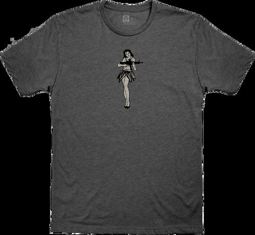 Magpul Hula Girl, T-Shirt, Medium, Charcoal Heather