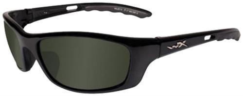 Wiley X Eyewear P-17 Safety Glasses Gloss Black/Pol, Smoke