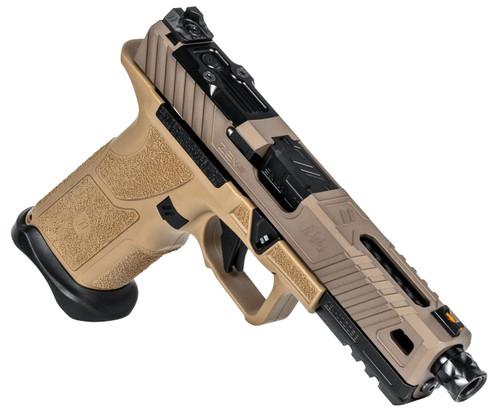 ZEV O.Z-9 Standard 9mm, Flat Dark Earth Shorty Polymer Grip, Threaded, 15rd