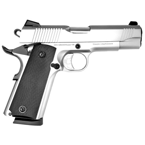 "Tisas SS45 1911, 45 ACP, 4.25"" Barrel, Steel Frame, Stainless Finish, Novak Style 3-Dot Sights, 8 Round"