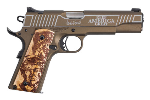 "Auto-Ordnance 1911 Trump 45th President V2 45 ACP, 5"" Barrel, Bronze/Copper, 7rd"