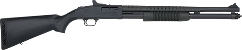 "Mossberg 590, Persuader 12 Ga, 3"" Chamber, 20"" Cylinder Barrel, Blue Finish, Synthetic Stock, Includes Heat Shield, 9Rd, Ghost Ring Sight"