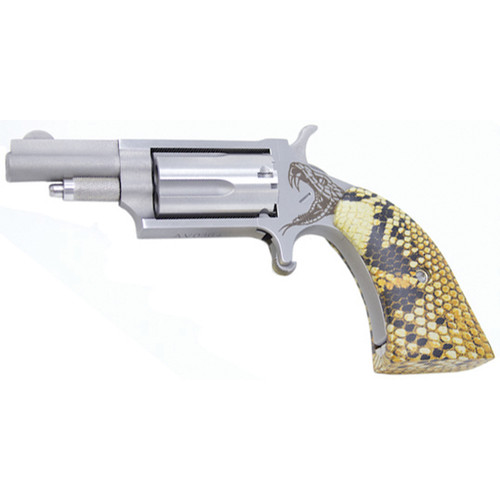 "NAA Mini Anti-Venom 22 Mag, 1 5/8"" Barrel, Snakeskin Print Boot Grip"
