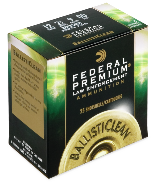 Federal Ballisticlean 12 Ga, 00 Buck, 25rd Box
