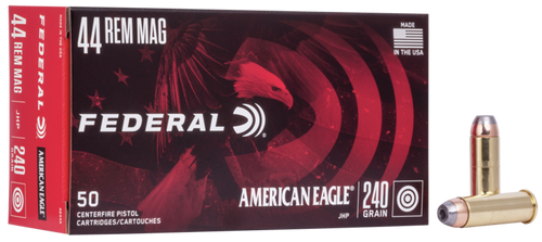 Federal 44 Rem Mag 240gr, Jacketed Hollow Point, 50rd Box