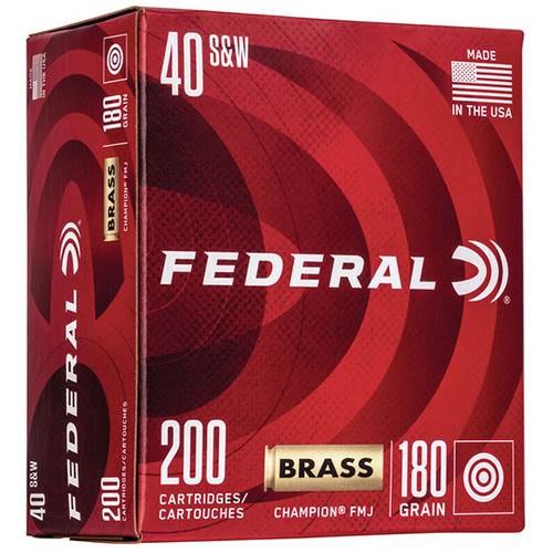 Federal Champion Training 40 S&W 180gr, FMJ, 200rd Box
