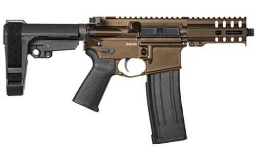 "CMMG Mk4 Banshee 300 5.7x28mm, 5"" Barrel, Midnight Bronze, RipBrace, Threaded 1/2-28, M-LOK, 40rd CMMG Magazine"
